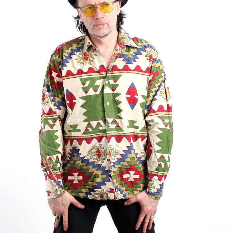 Vintage Mens Aztec Print Shirt from  Ramici