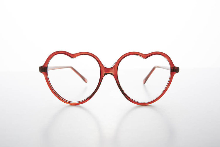 Heart Shaped Clear Lens Glasses from  Sunglass Museum