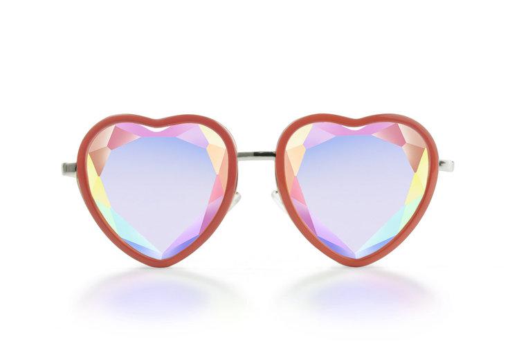 Heart Shape Crystal Glasses from  Kaleidoscope Glasses