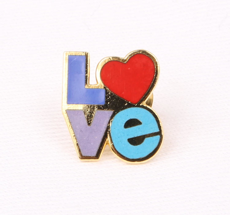 70s Love Enamel Pin from  Gwendalysa Arts