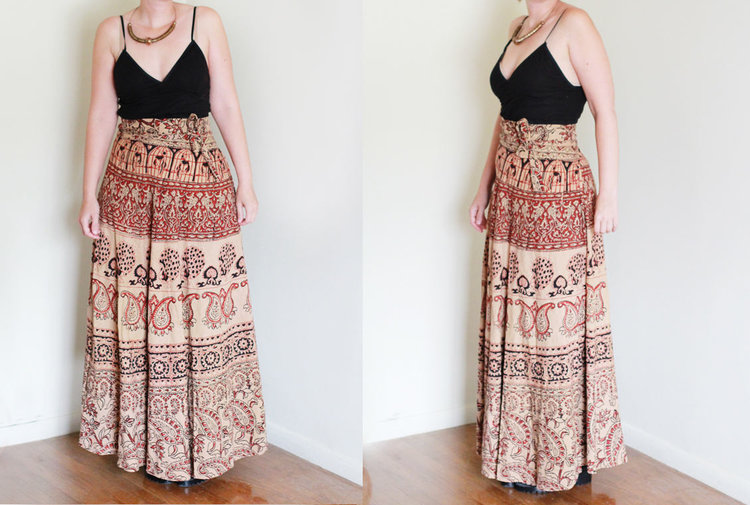 Indian 70s Wrap Skirt from  We Move Vintage