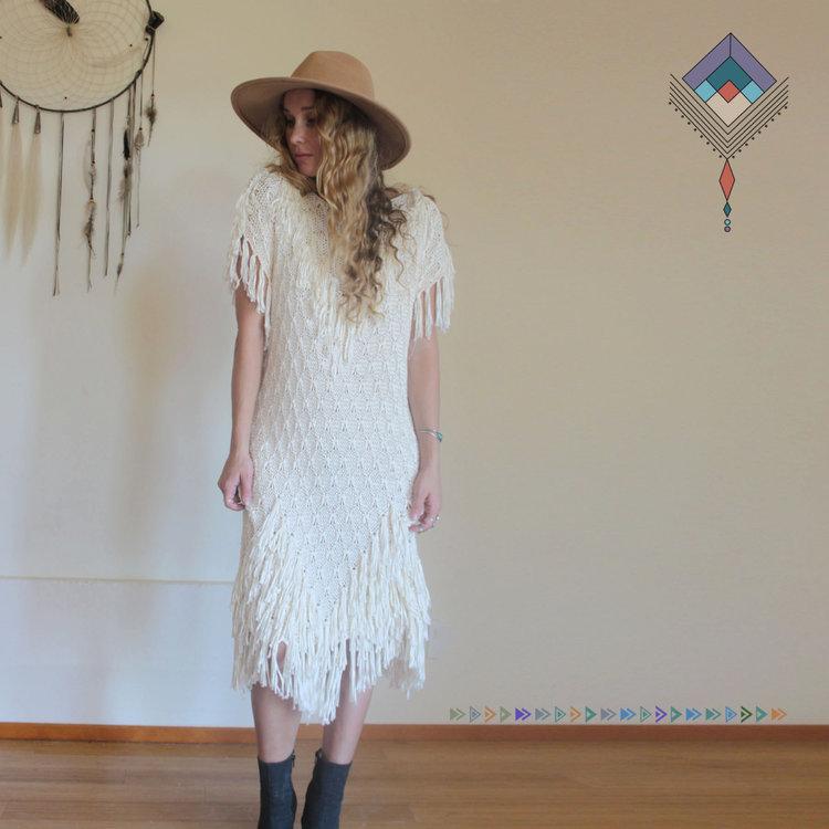 Fringe Crochet Boho Dress from  Savage Thread