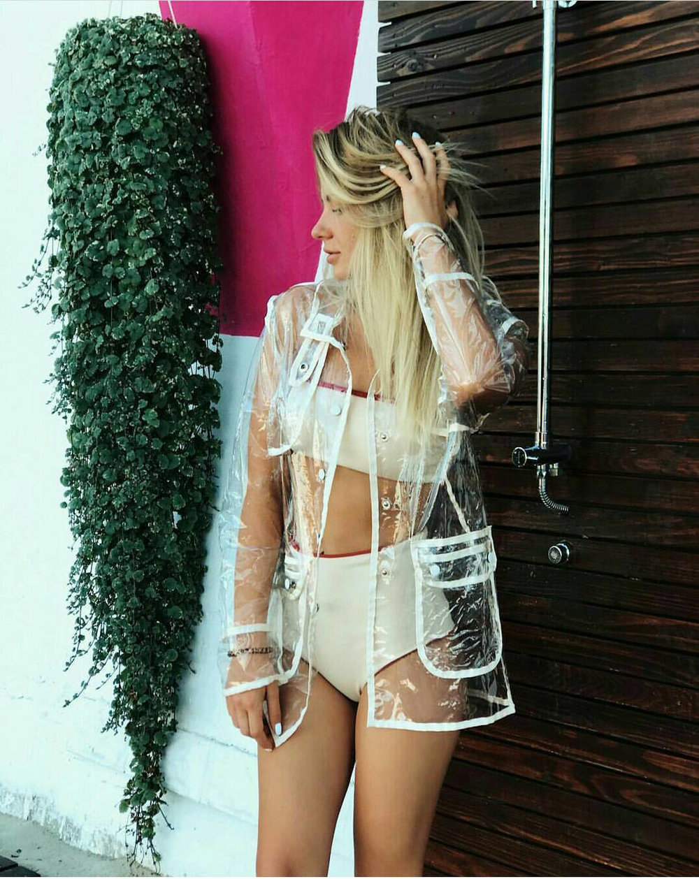 Transparent PVC raincoat from  Shop By Dobraya