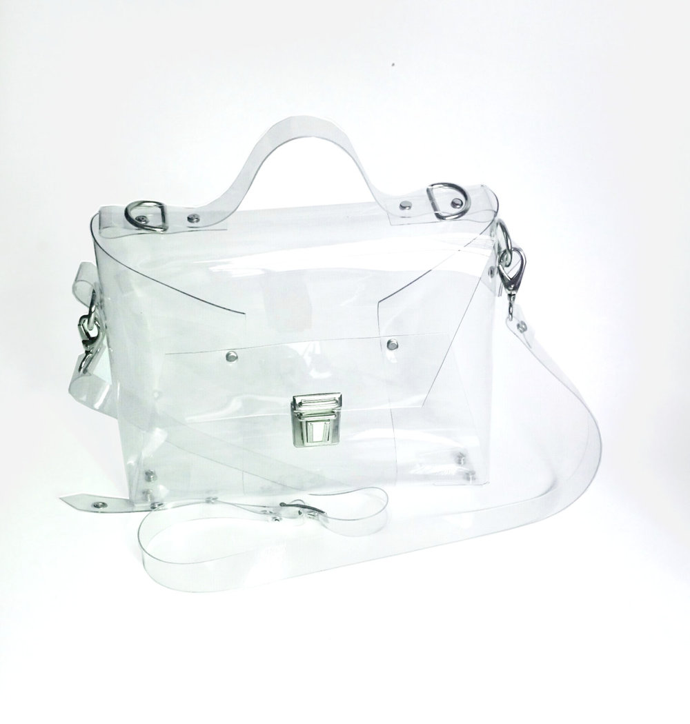See Through Plastic Crossbody Bag from Ypsilon Bags