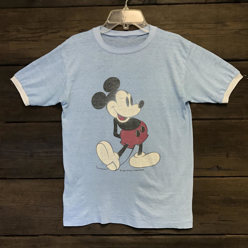 b7a31bd9 70s Paper Thin Mickey Mouse Tee from Reverence Vintage