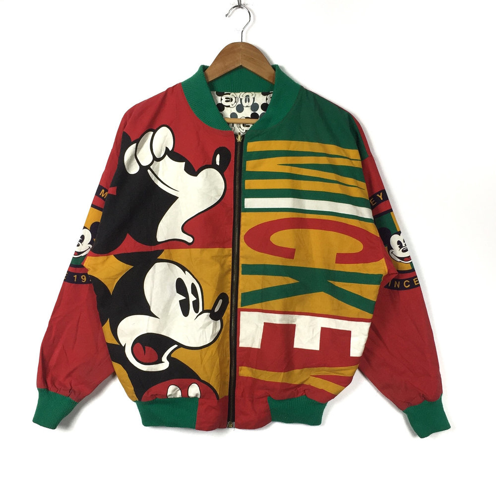 Rastafarian Tones Mickey Mouse 90s Windbreaker