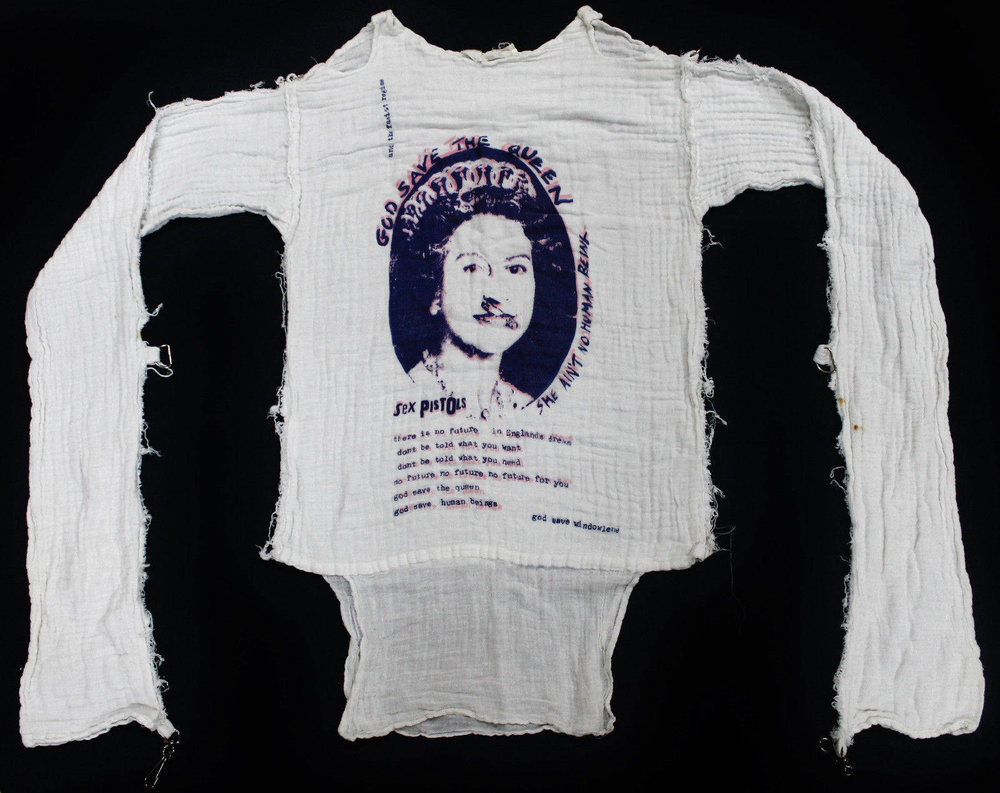 Early 80s Vintage BOY God Save the Queen Muslin Top