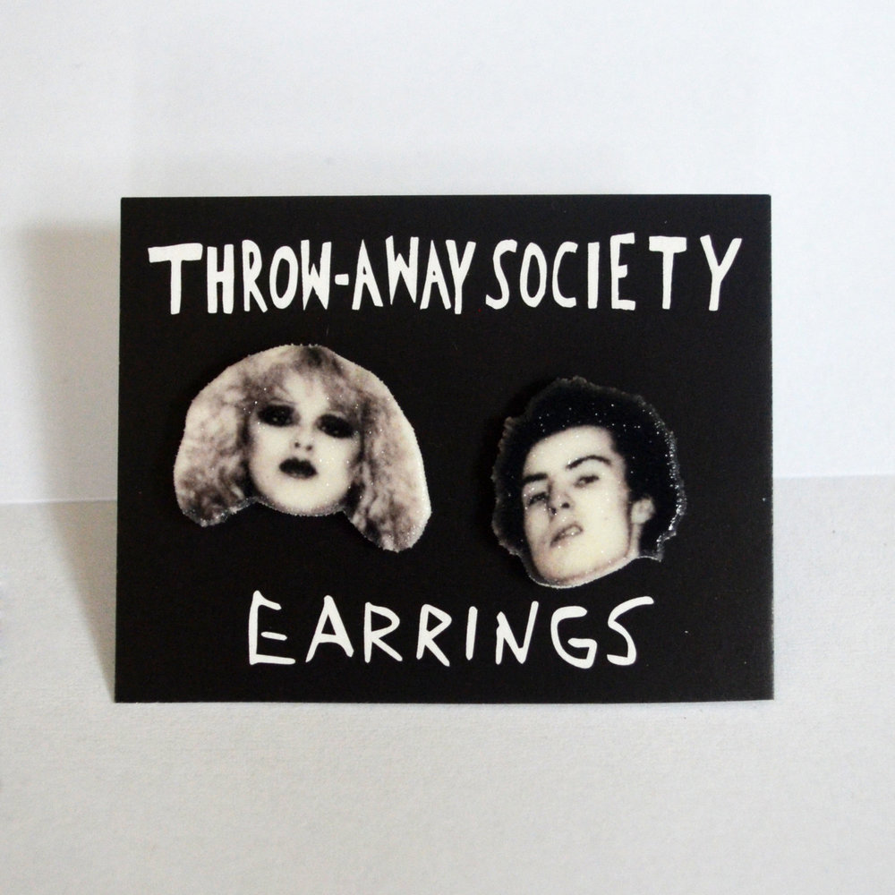 Sid and Nancy Earrings from Throw Away Society