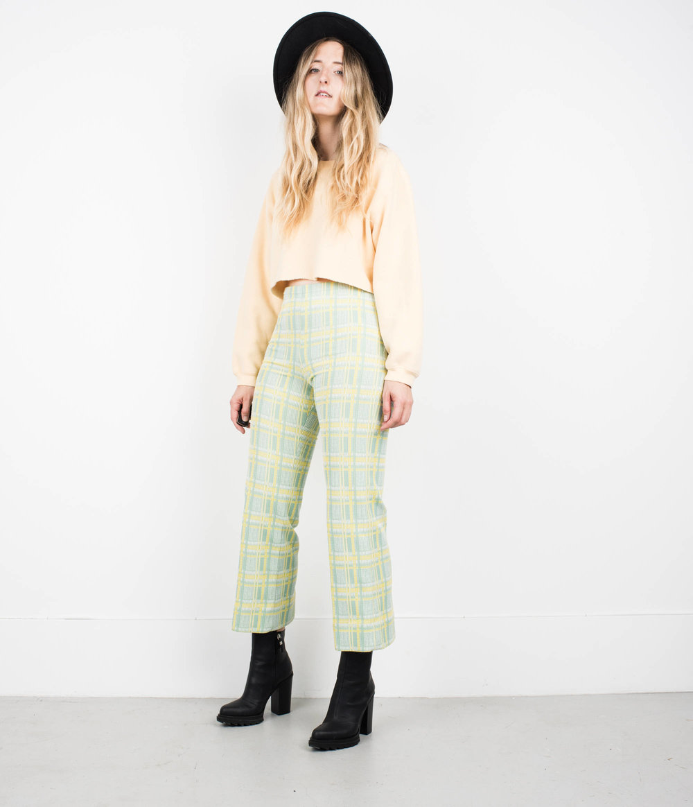 Vintage Mint and Yellow Plaid Pants from Shop Erika Astrid