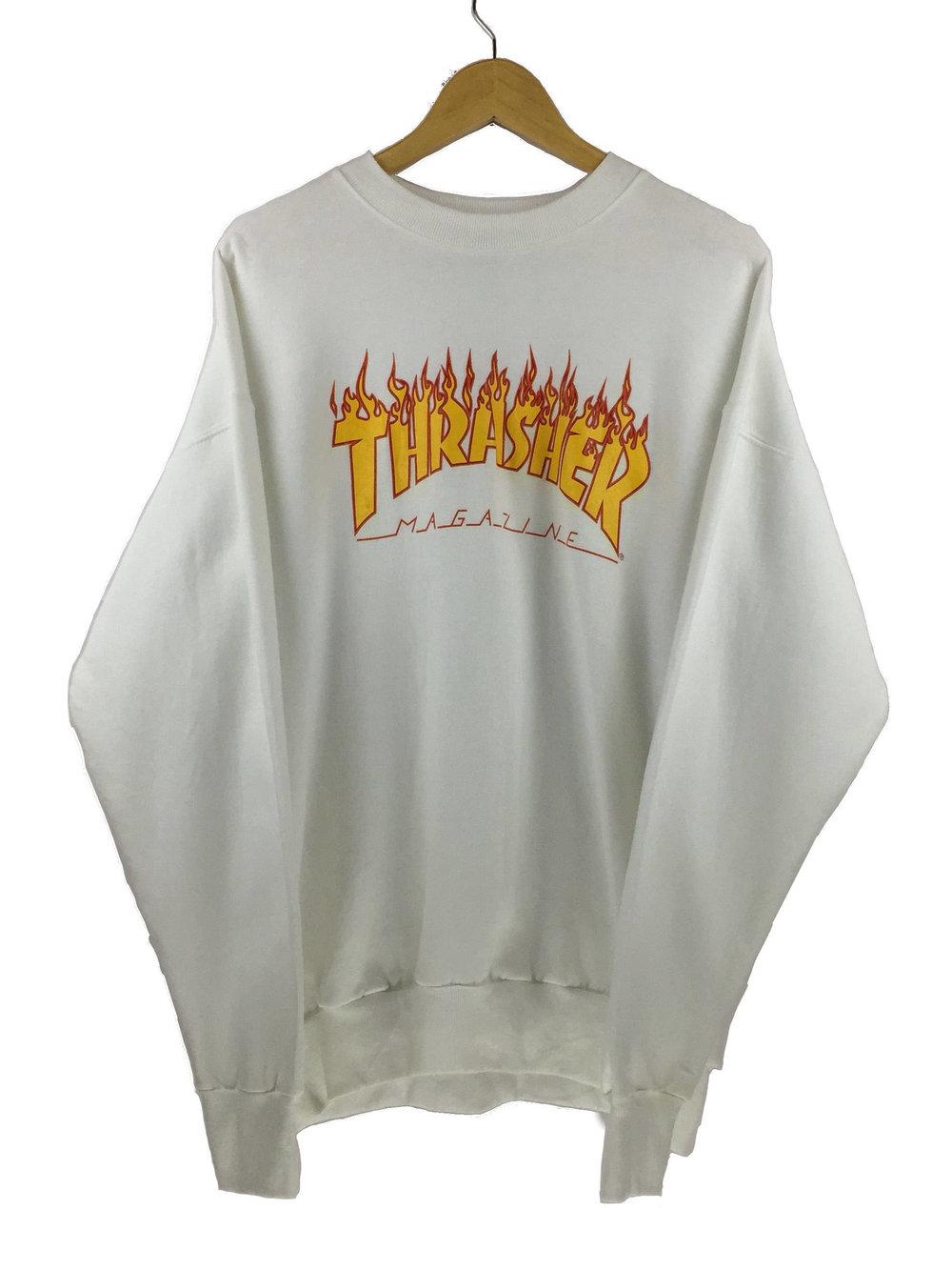 White 90s Thrasher Magazine Sweater from MY East Coast Hut