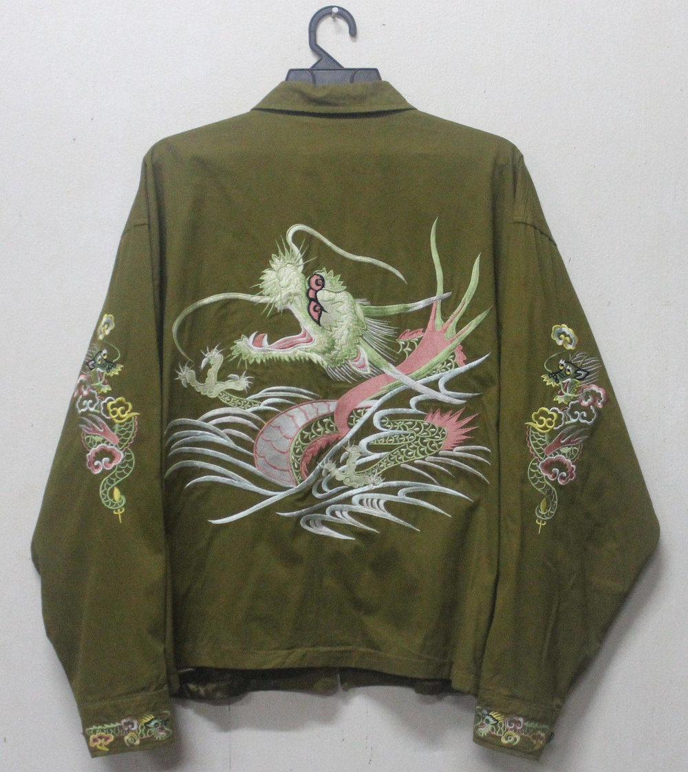 Vintage 60s Sukajan Embroidered Jacket from Vietnam War Era from Old Luxury Garbage