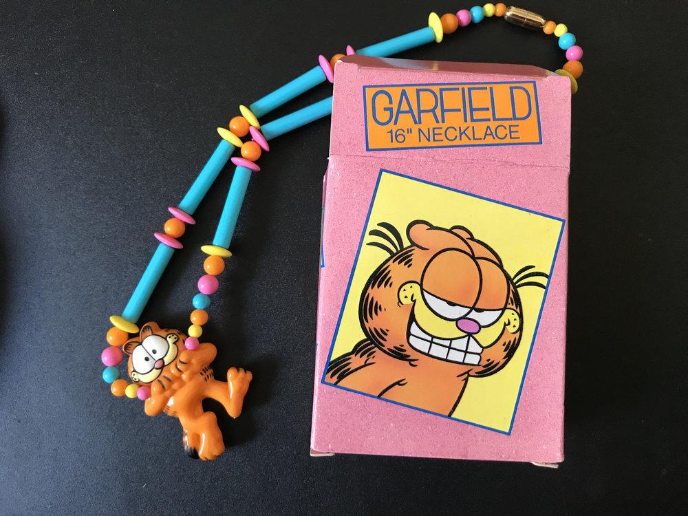 1990 Avon Garfield Necklace from  Vote Joe