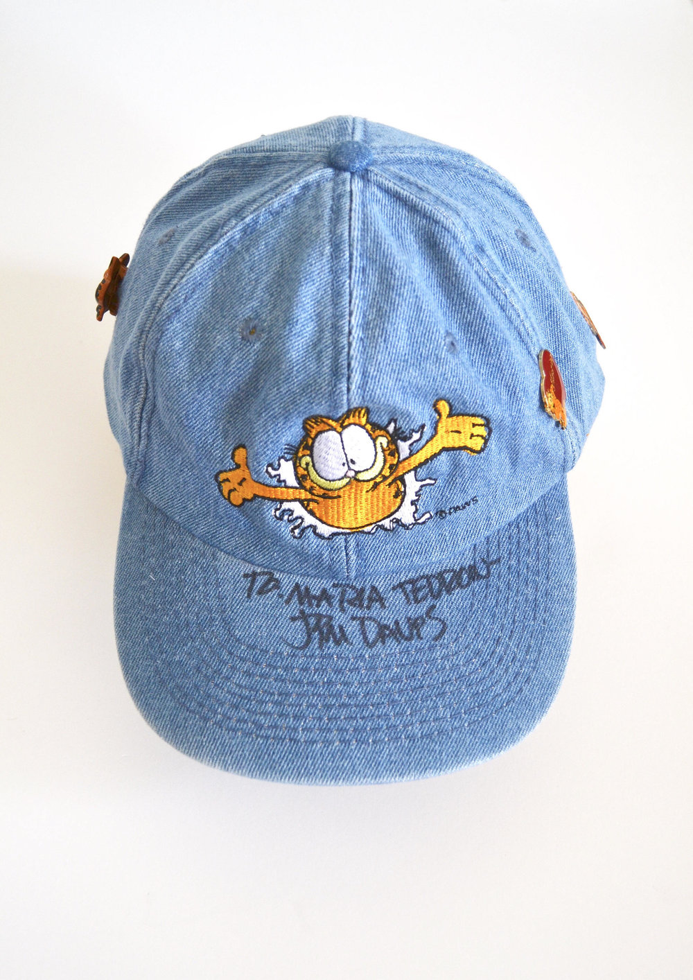 Garfield Cap autographed by Jim Henson from Spaced Out Mama