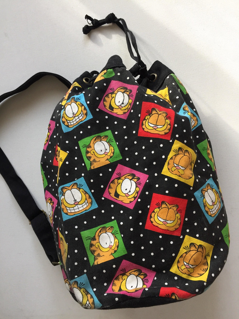 80s Vintage Garfield Backpack from  In the Newd