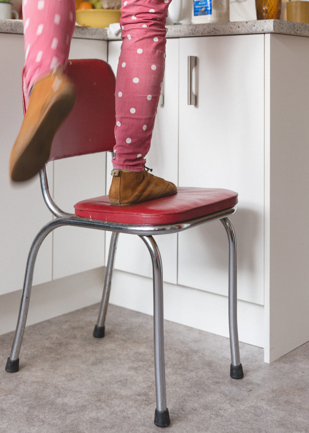chair stool reach cupboard home interior documentary