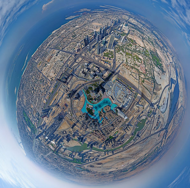 Dubai panorama. From the top of the world's tallest building.