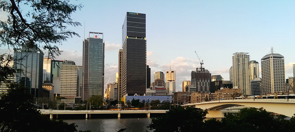 My view of the city and the river from the State Library of Queensland