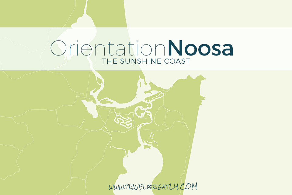 Map of Noosa Heads, Queenland, about 1.5 hours north of Brisbane.