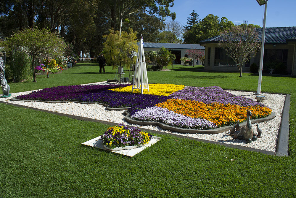 The champion acreage garden at the Toowoomba Carnival of Flowers.