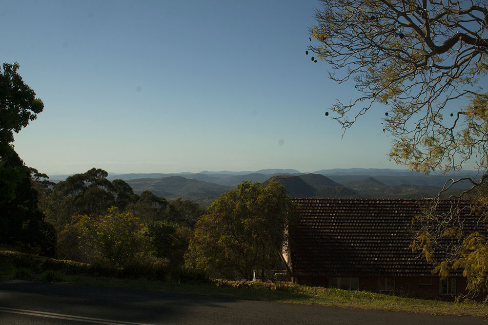 View of Western Toowoomba from our cousins' house