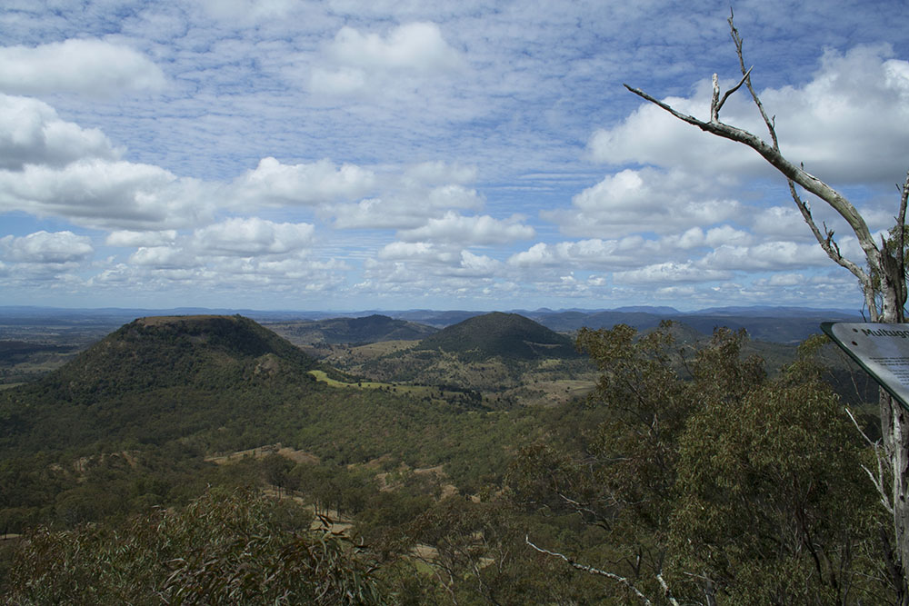 The view of Tabletop Mountain from Picnic Point, Toowooomba, Queensland