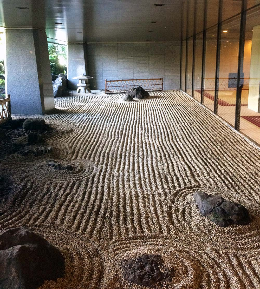 Zen garden near the hotel's lobby