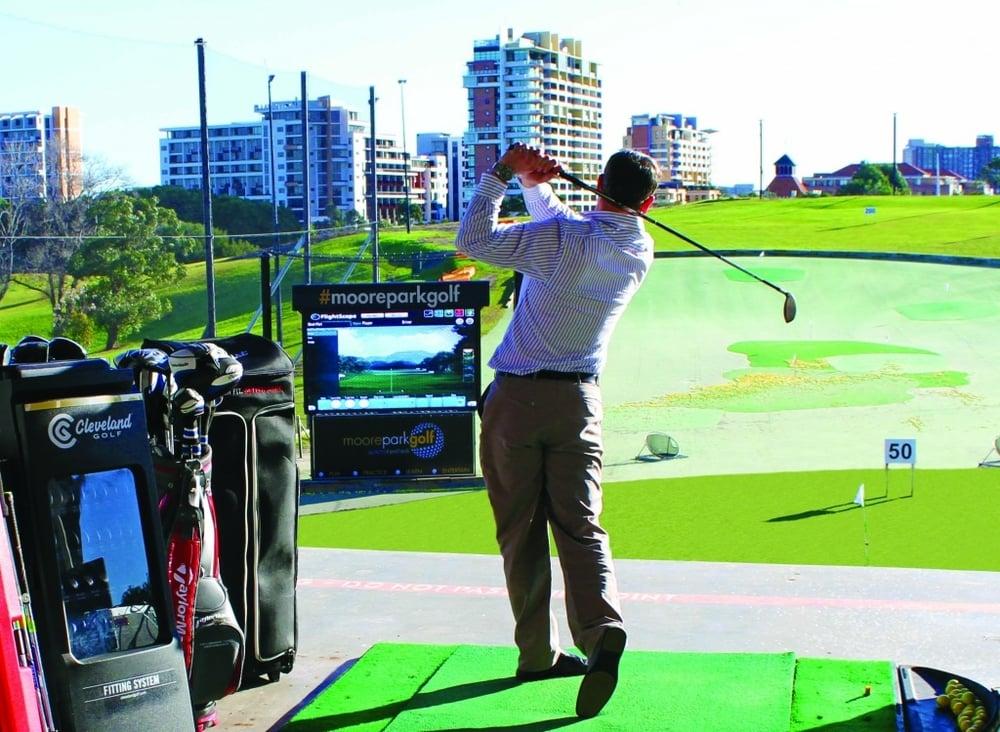 Moore Park Golf's jumbo screen