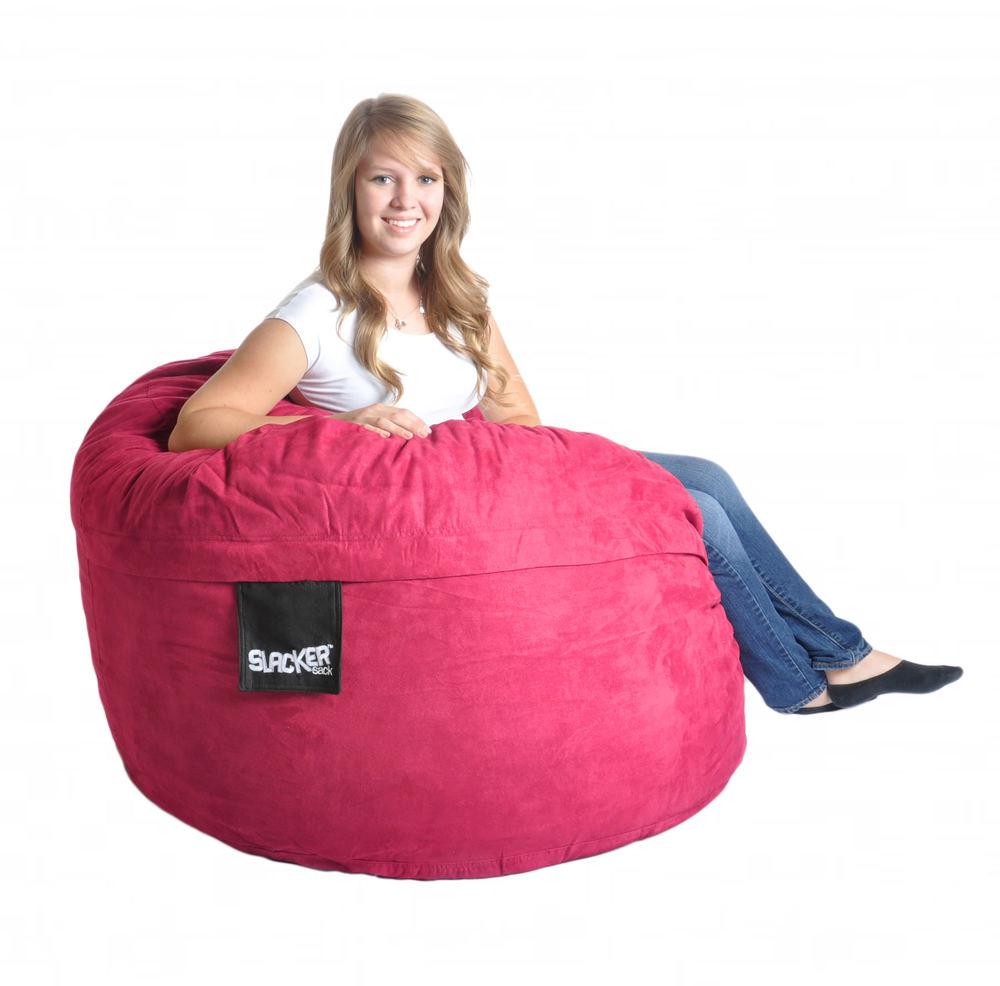 Hot Pink Microsuede 4. 17. 4u0027 Oversized Bean Bag Chairs