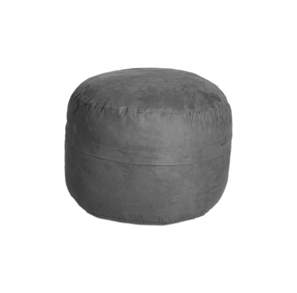 Charcoal Microsuede Ottoman.jpg  sc 1 th 223 : slacker bean bag chairs - Cheerinfomania.Com