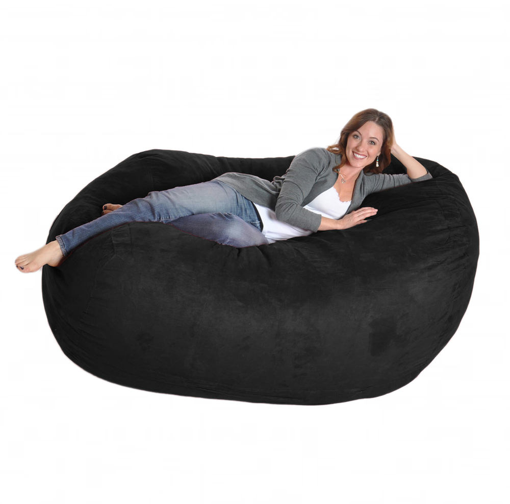 SLACKER Sack — Beanbag Sofa Black Microsuede