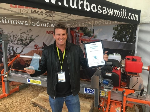 Turbosawmill recieves the 'Origin' innovation award at the New Zealand National Fieldays!
