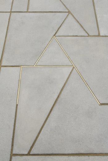 Martin Boyce brass concrete flooring