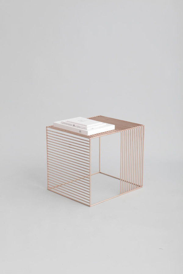Lacoli & McAllister brass table lines geometric