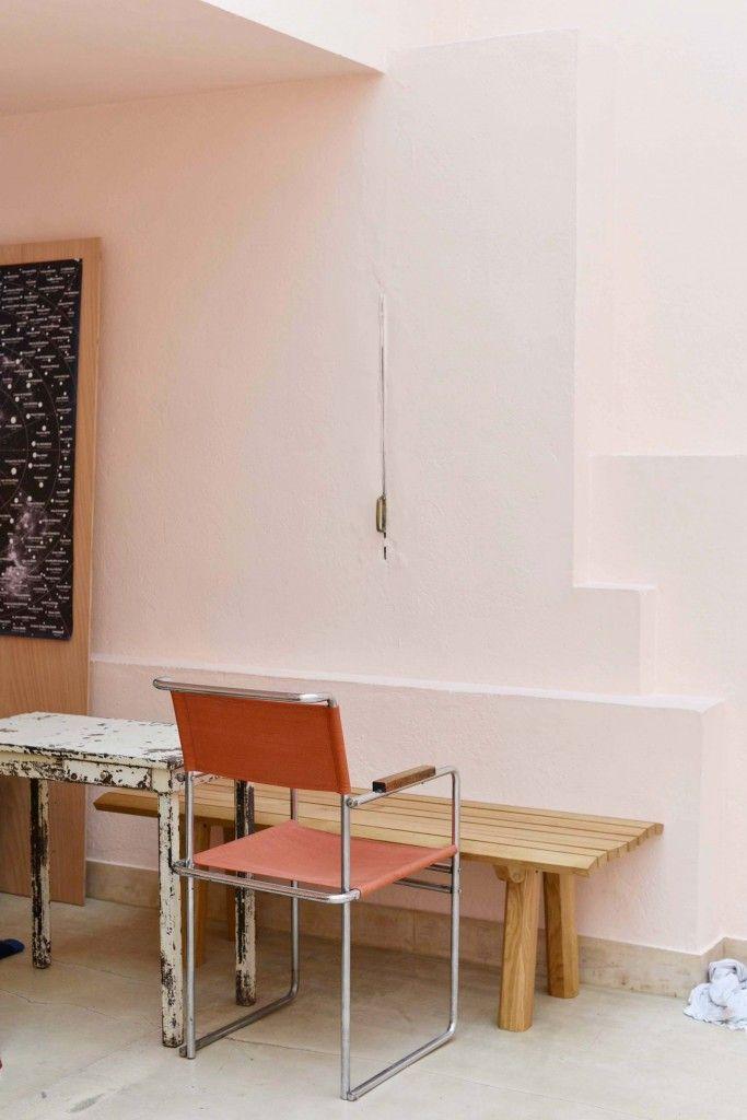Villa Noailles pink chair