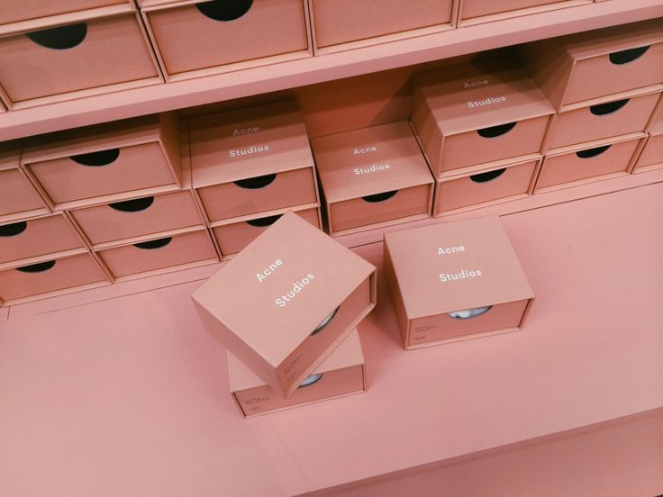 Acne studios pink boxes