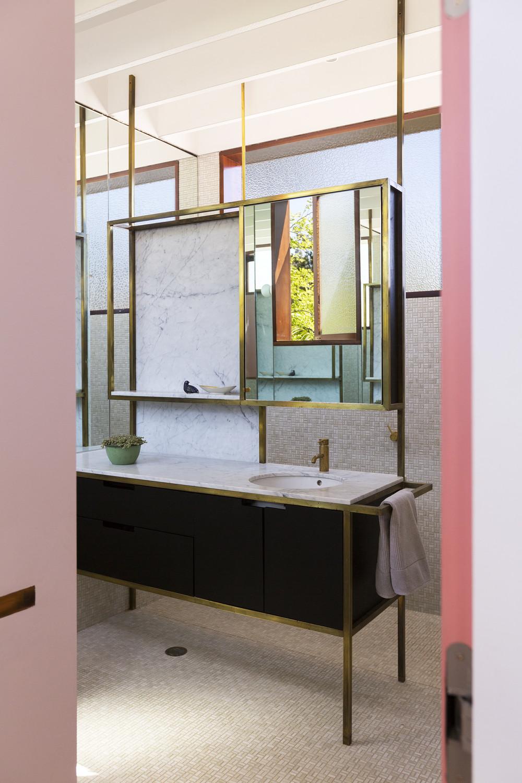 Aileen Sage pink bathroom details