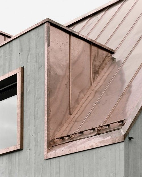 Menzi Bürgler Architekten rose gold roof