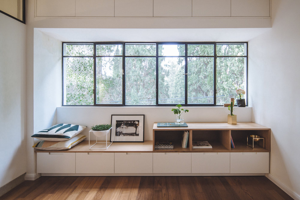 Bedroom in wood and steel. Ferm living.