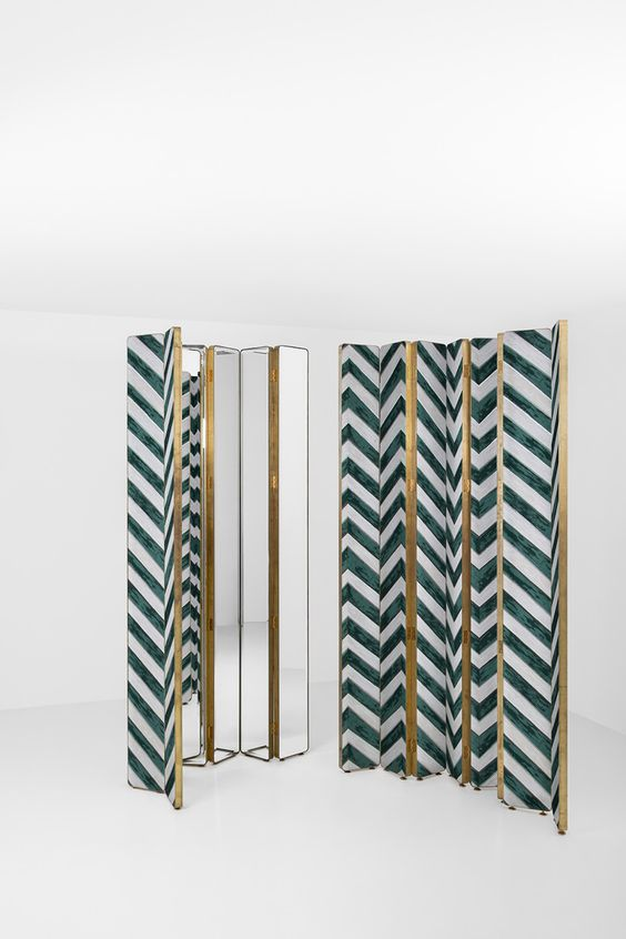 Dimore studio brass and mirror screen