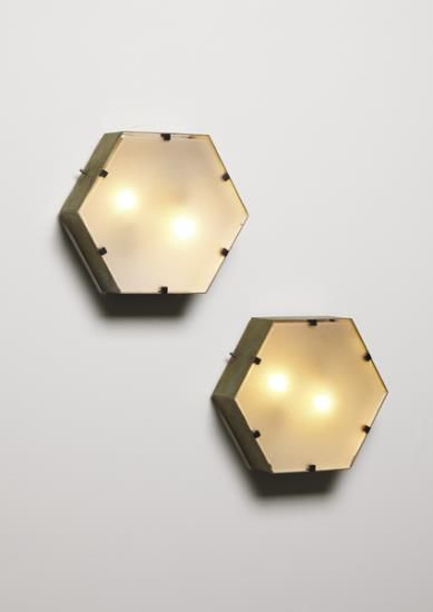 Gio Ponti brass wall light