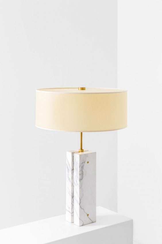 Dimore studio marble lamp with shade