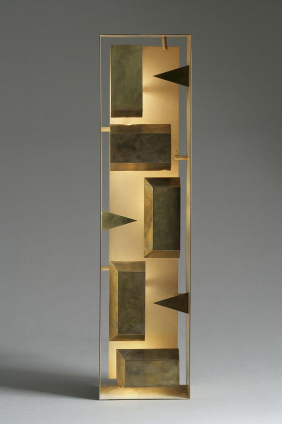 Gio Ponti brass standing light element