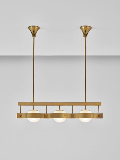 Gio Ponti brass ceiling light