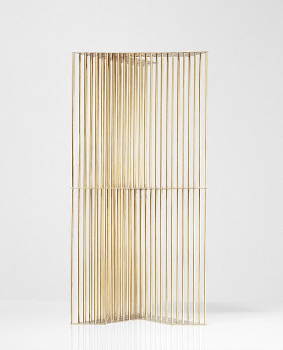 Brass stripes furniture art