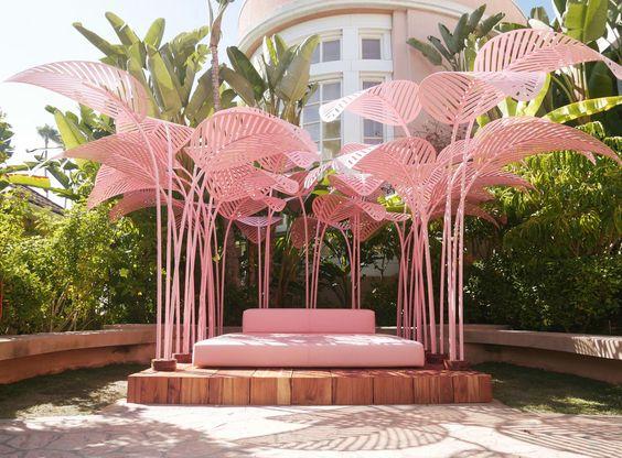 Pink palms shades