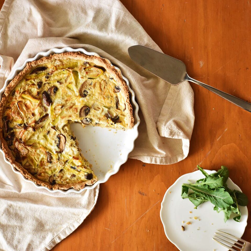 Caramelised Leek and Mushroom Quiche (just $1.29 a serve!!)