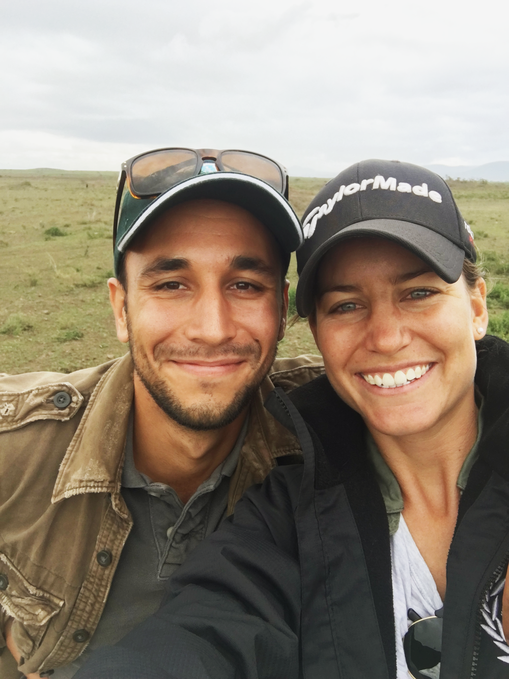 Nicole & Javier on a Series-1 Land Rover Safari to the Maasai Safari Camp