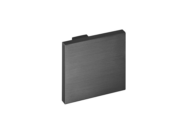Square Door Knob Titanium Black - Design Christian Magalhaes