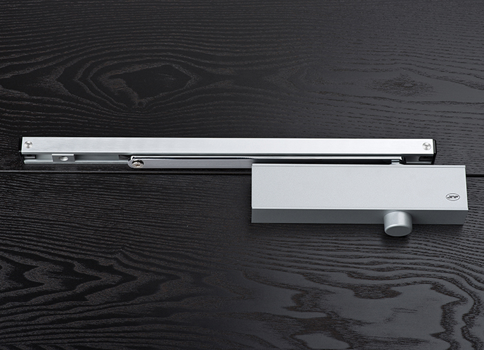 Overhead Door Closer with Sliding Rail