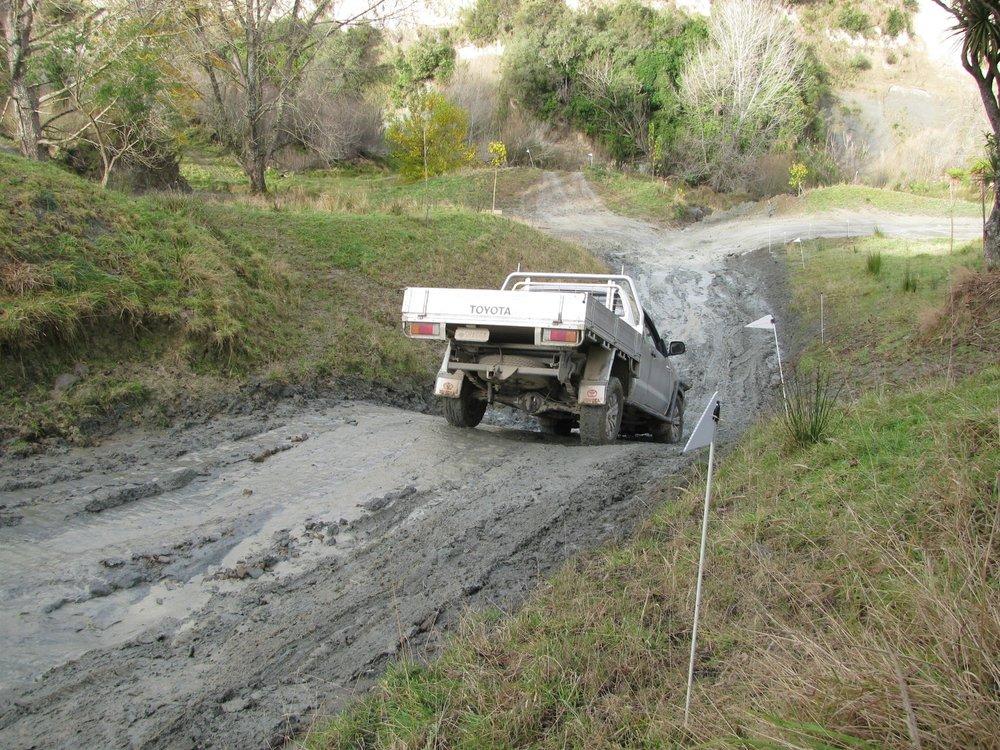 4WD waterslide